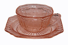 Hocking Pink Mayfair Cup and No Ring Saucer