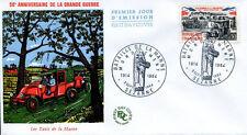 FRANCE FDC - 515A 1429 1 BATAILLE DE LA MARNE LES TAXI 5 9 1964