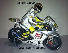 MINICHAMPS VALENTINO ROSSI 1/12 YAMAHA M1  GP ESTORIL  2009  MOTO + FIGURE NEW
