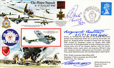 RAFA 7 RAF Battle of Britain cover signed RAYMOND BAXTER & RICHARD JONES AE