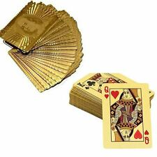 One Deck Playing Cards Game Gold Foil Plating  Blackjack Poker Creative Gift