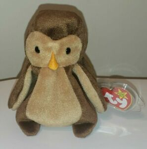 Ty Beanie Baby - HOOT the Owl (5 Inch) MINT with MINT TAGS - Stuffed Animal Toy