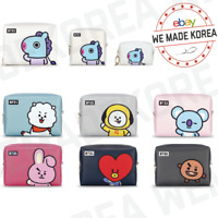 BT21 Character PU Square Pouch Case Bag S M L Size 7types Authentic K-POP Goods