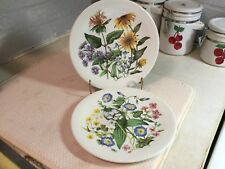 Set Of 2 Enoch Wedgwood Wild Flowers of the Southern United States Avon Plates