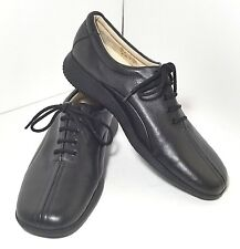 Caressa Womens W2O Leather Shoes Black Size 7.5 M Crosstown Comfort