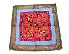Vintage Kutchi Banjara Bohemia Embroidery Tapestry Handmade Old Mirror Work Rare