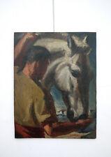 Georges Darel CH 1892-1943 tableau painting horse cheval Gemälde Pferd Ölbild
