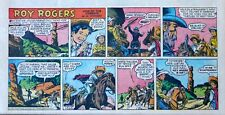 Roy Rogers by Mike Arens - full color Sunday comic page - March 4, 1956