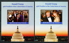 Chad 2016 CTO Donald Trump & Family 45th US Presidents 2x 1v M/S Ivanka Stamps