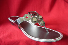 Anne Klein Achacie Wedge Low (3/4 in. to 1 1/2 in.) Thong Pewter Sz:7M