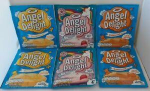 Job Lot Joblot Angel Delight - Strawberry Magic Banana Butterscotch x 6  NEW