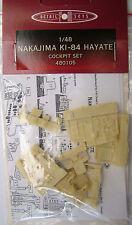 Nakajima KI-84 Hayate cockpit set resin & etched & film 1/48 FM Detail 480105
