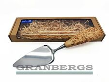 Wood Jewel Cake Knife And Server In Gift Box, Handmade in Finland