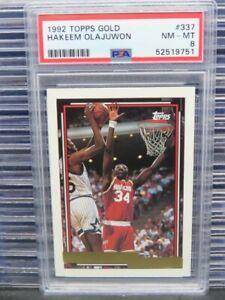 1992-93 Topps Gold Hakeem Olajuwon #337 PSA 8 Rockets R121