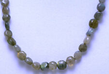 "*Authentic* Labradorite Round Bead Crystal 18"" Necklace #84"