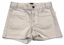 NWT GAP Girls Stretch Shortie Short Sz 10 Slim White Adjustable Waist #500043