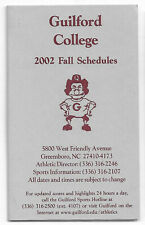2002 Guilford College Soccer Volleyball Schedule !!