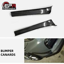 ZR Style Carbon Fiber Front Bumper Canard Kits For 13-16 Porsche 981 Cayman GT4