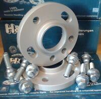 KIT 2 ELARGISSEURS DE VOIE H&R 15mm - PEUGEOT 308 Boulons Plats OEM+ANTIFURTO
