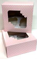 2 x cajas de la Magdalena tiene 4 Taza Pasteles Con Ventana Transparente día de las Madres Cumpleaños Craft