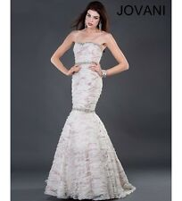 Jovani Sexy Gold Embroidered Prom Evening Party Dress Sz 14 NWT
