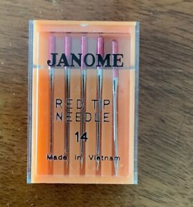 Janome sewing machine Red Tip Needles size 14