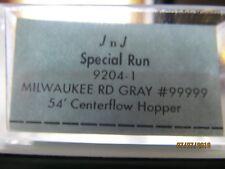 JTC  -  54 ft.  Center-Flo Covered Hopper  (Milwaukee Road)