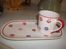 Whittard of Chelsea Hand painted Tennis Cup and Saucer