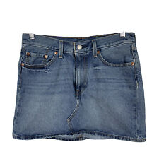 Levis Womens Denim Skirt Size 28 Blue Mini Good Condition
