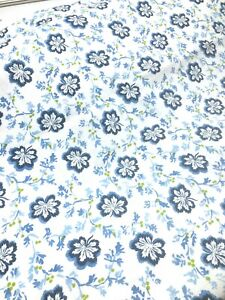 """Designers Guild Fabric, Camomile Pattern in blue, 2 1/2 yds x  54"""" 100% Cotton"""