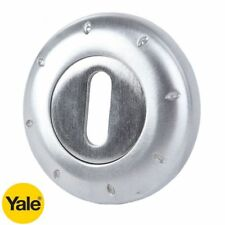 1 PAIR OF .YALE PREMIUM DOTS ESCUTCHEONS - BRUSHED CHROME - NEW