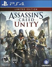 Assassin's Creed Unity PlayStation 4 Limited Edition 2014 Ps4 Sealed Video Game