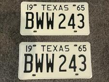 1965 Texas License Plates Pair (BWW 243)