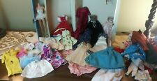 HUGE Lot Vintage Barbie~CASE w/CLOTHES~TAGGED AND HOMEMADE~1958 BARBIE BODY