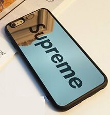 Case Supreme Mirror Black or Pink Silicone case For Iphone 5 5s 6 6s 7 8 Plus X