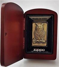 OWL OF WISDOM Ebony ZIPPO neu ovp in HOLZBOX Limited xxx/1000