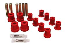 Energy Suspension Leaf Spring Bushing Set Red Front for Chevrolet, GMC # 3.2112R