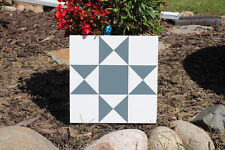 Barn Quilt - Hand Painted Wood Barn Quilt Ohio Star Pattern 1'x1'