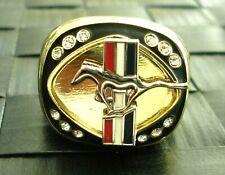 Ford Mustang 14 Karat Gold Gefüllt Signet Ring Mit