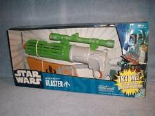 Boba Fett Blaster Star Wars ESB ROTJ Lights Sounds Hasbro 2009 New Sealed Works