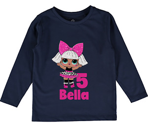 Personalised LOL surprise girls long sleeve top Babies Toddler clothes birthday