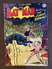 BATMAN # 72 CLASSIC JUNGLE COVER WITH ROBIN Golden Age. 1952
