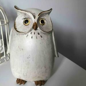 SHABBY COUNTRY CHIC  FREESTANDING OWL FIGURE  16cm high