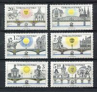 33281) CZECHOSLOVAKIA 1978 MNH** Prague bridges 6v