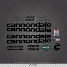 0638 Black Cannondale Bicycle Stickers - Decals - Transfers