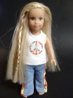 """American Girl Doll JULIE ALBRIGHT Outfit 1974 Historical Hippie Blonde 6"""" Mini"""