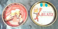 Blatz & Grain Belt Beer Vtg Metal Serving Tray Lot of 2