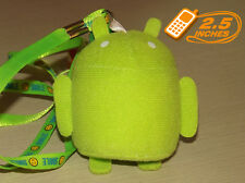 2.5'' Google Android Robot Plush Phone Strap Anime Stuffed Animal Toy GOPL9040