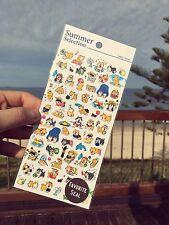 Japanese Cute Shiba Inu dog animals stickers scrapbooking crafts summer time