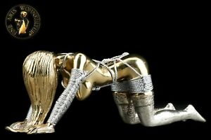 FINE ARTS Wohnkultur Bronze Skulptur Figur Devote Lady Bondage Erotik Woman